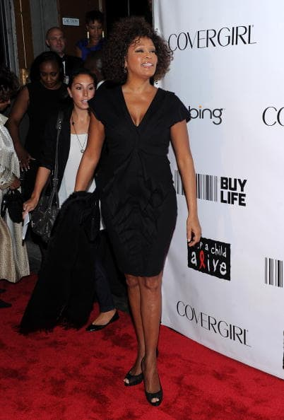Singer Whitney Houston attends the 2010 Keep A Child Alive's Black Ball at the Hammerstein Ballroom on September 30, 2010 in New York City. (Photo by Stephen Lovekin/Getty Images)
