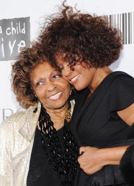 Singer Cissy Houston and daughter singer Whitney Houston attend the 2010 Keep A Child Alive's Black Ball at the Hammerstein Ballroom on September 30, 2010 in New York City. (Photo by Stephen Lovekin/Getty Images)