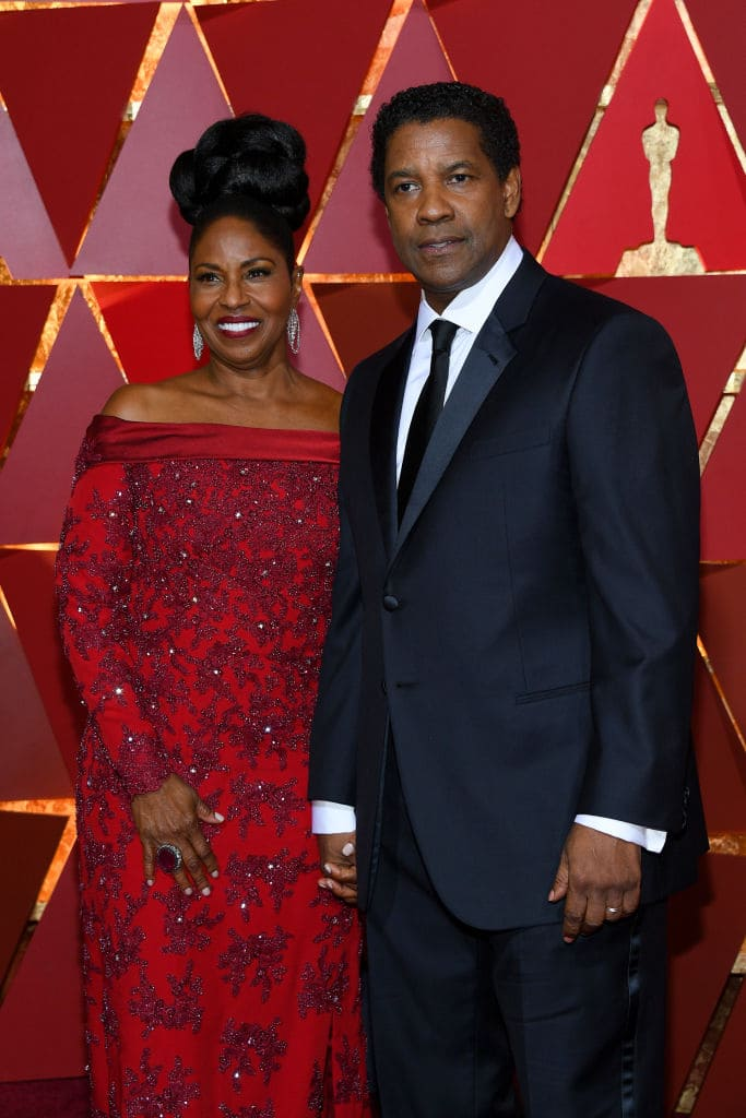 Denzel Washington (R) and Pauletta Washington attend the 89th Annual Academy Awards at Hollywood & Highland Center on February 26, 2017 in Hollywood, California. (Photo by Kevork Djansezian/Getty Images)