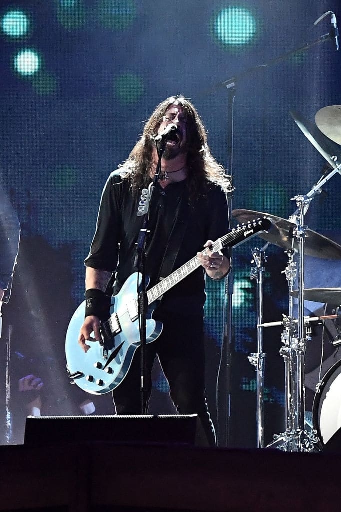 Grohl says he couldn't listen to music after Cobain's death (Source: Gareth Cattermole/Getty Images)