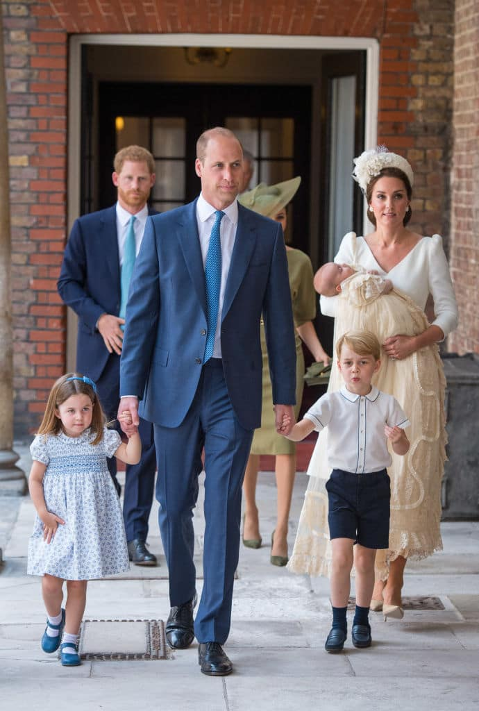 This is the first time the entire family was seen in public since the birth of Prince Louis (Getty Images)