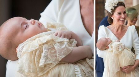 Queen and Prince Philip skip Prince Louis's christening as adorable prince rocks a hand-me-down gown