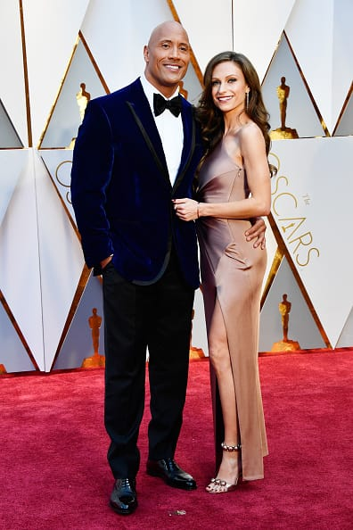 Actor Dwayne Johnson and Lauren Hashian attend the 89th Annual Academy Awards at Hollywood & Highland Center on February 26, 2017 in Hollywood, California. (Photo by Frazer Harrison/Getty Images)
