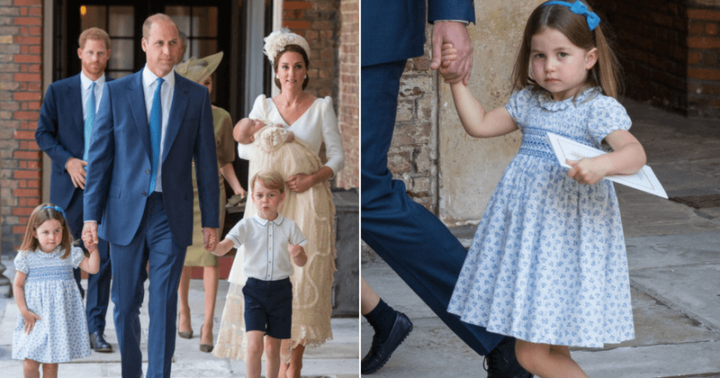 Princess Charlotte steals show at Prince Louis's christening, tells paparazzi they are not invited
