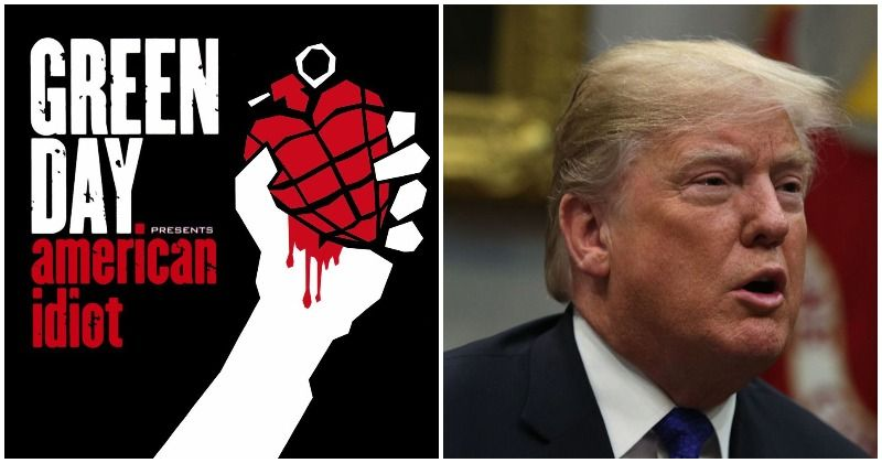 British protesters campaign to push Green Day's 'American Idiot' to top of the charts ahead of Donald Trump's visit