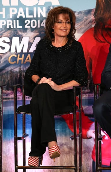 Sarah Palin slams Sasha Baron (Photo by Frederick M. Brown/Getty Images)