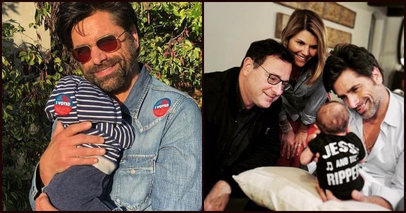 "John Stamos reveals his ""genius"" diaper changing trick and it involves a 'little butt spatula'"