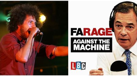 Rage Against the Machine send cease and desist to 'Farage Against the Machine' podcast