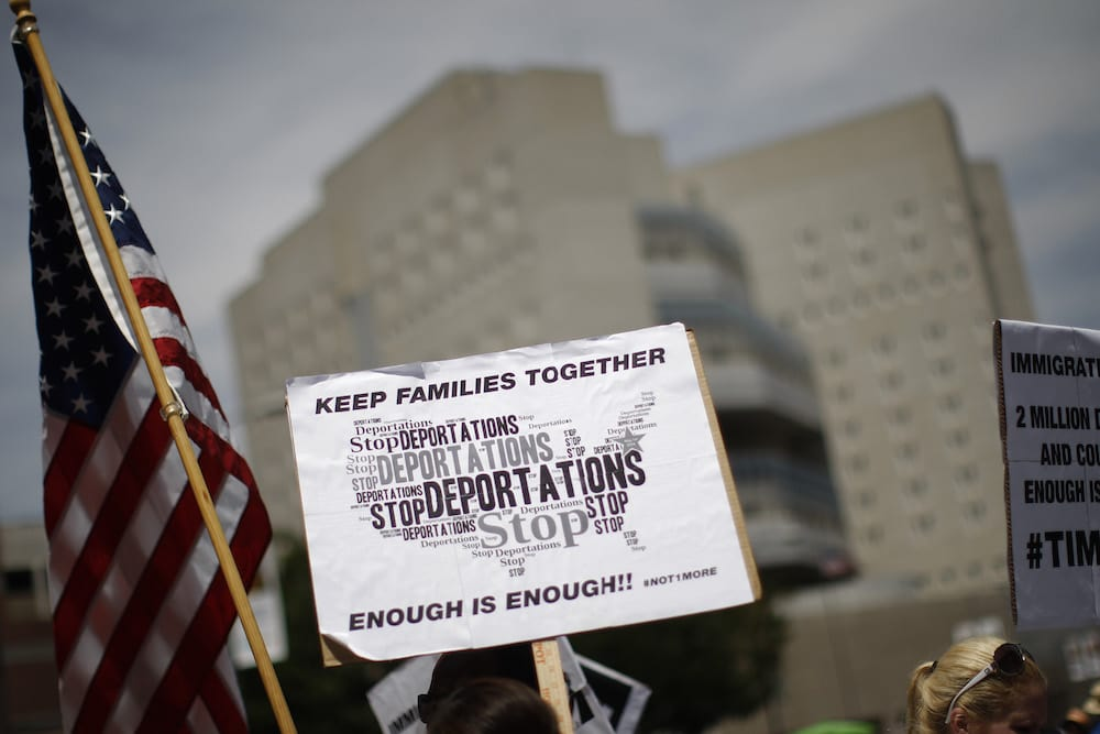 Activists protesting Trump administration's zero tolerance policy which separates immigrant families. (Getty Images)