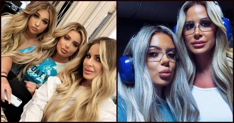 d27cf739d98 Kim Zolciak-Biermann and her two daughters look like triplets in their  latest picture