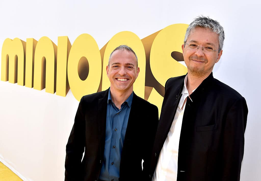 Directors Kyle Balda (L) and Pierre Coffin arrive at the premiere of Universal Pictures and Illumination Entertainment's 'Minions' (Getty Images)