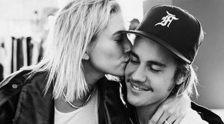 Justin Bieber and Hailey Baldwin share steamy kiss in a pool days after their engagement