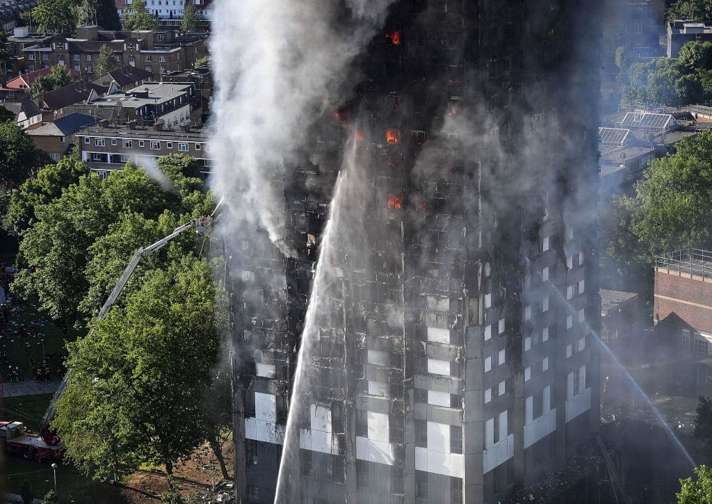 More than 200 firefighters and 40 fire engines responded to the fire at the 24-storey block in North Kensington (Getty Images)