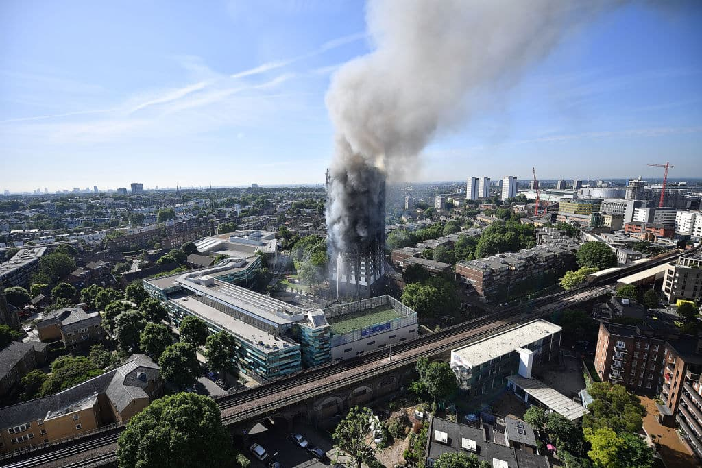 72 people died after a huge fire engulfed Grenfell Tower, a west London residential tower block, on June 14 2017 (Getty Images)