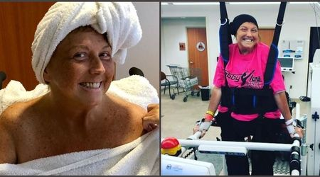 Abby Lee Miller forgets cancer battle for a while as she tears up listening to a singer serenade her in hospital