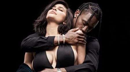 Kylie Jenner and Travis Scott pose for a sexy photo shoot as they open up about their 'super private' relationship
