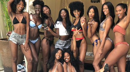 'No dark skin': Sexy black models say they were 'dismissed' by brand at Miami Swim Week casting call because of their race