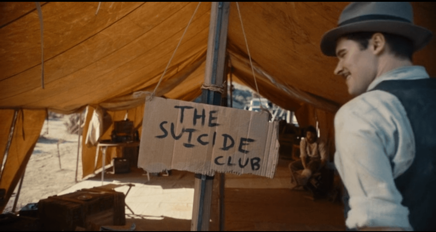 Jack and the rest of the CalTech team set up their base in the desert and name it the 'Suicide Club'. Much foreshadowing perhaps? (Image Source: CBS All Access)