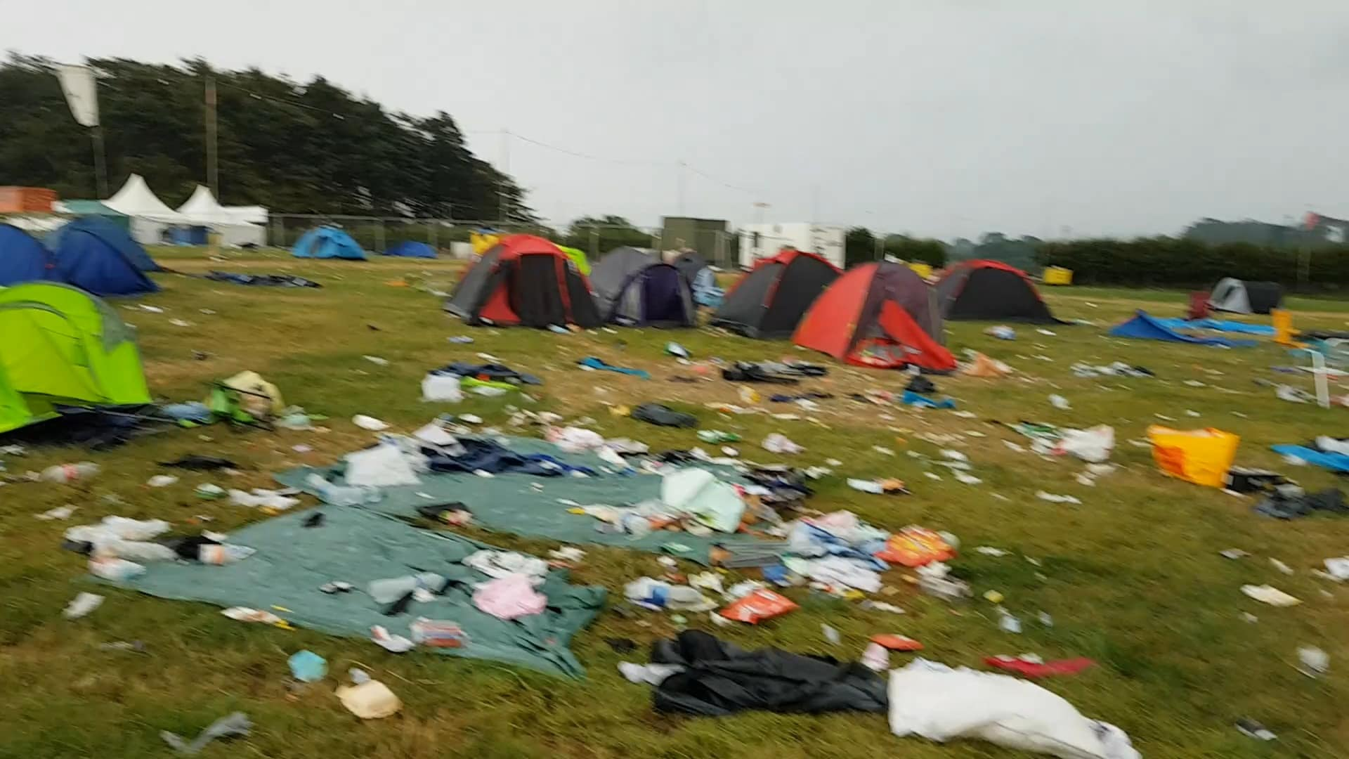 It would take six weeks for up to 300 festival staff to clean up the mess (Image: Kennedy News and Media)
