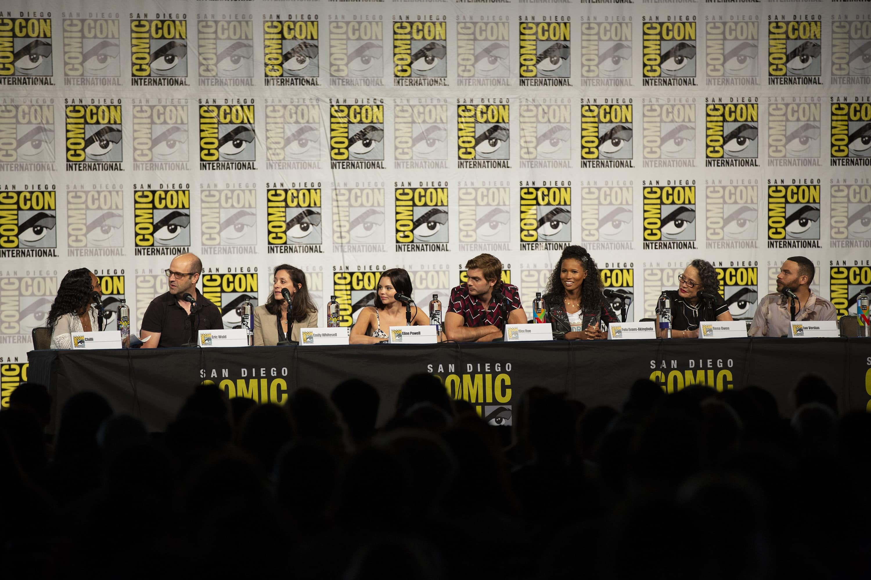The cast and executive producers of 'Siren' at the San Diego comic con