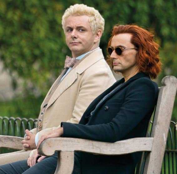 Michael Sheen and David Tennant in 'Good Omens' (Source: IMDb)