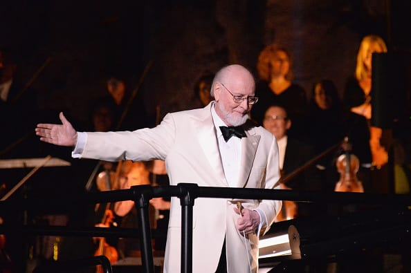 Composer John Williams performs during Universal Studios' 'Wizarding World of Harry Potter Opening' at Universal Studios Hollywood on April 5, 2016, in Universal City, California (Photo by Matt Winkelmeyer/Getty Images)
