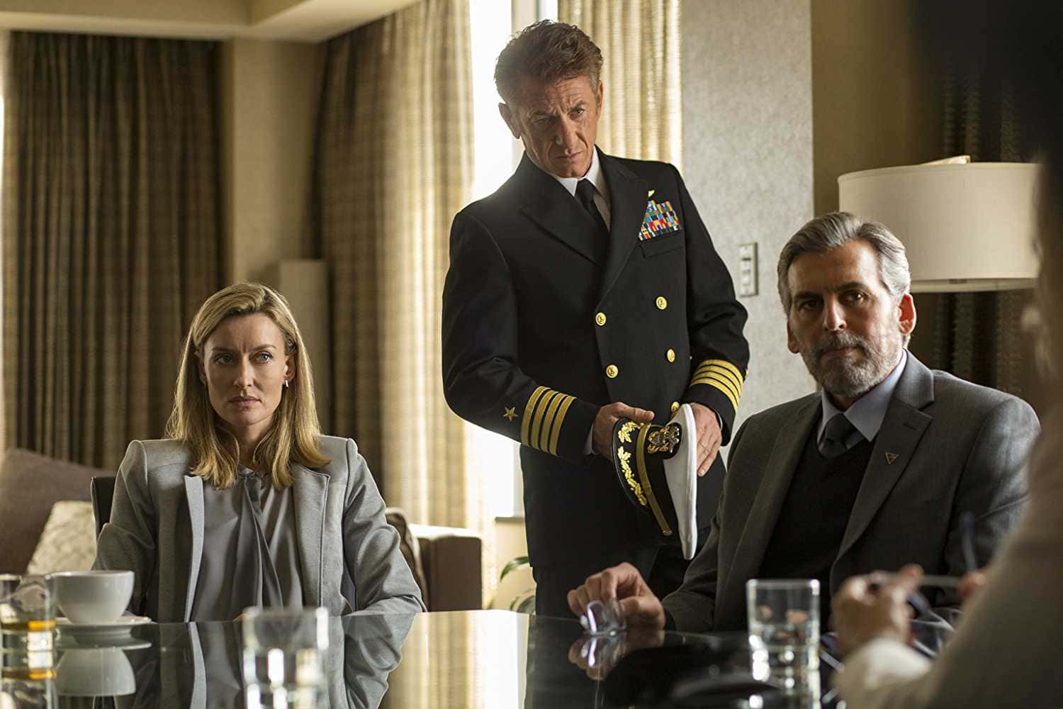 Sean Penn, Natascha McElhone, and Tom Hagerty in 'The First' (Source: IMDb)