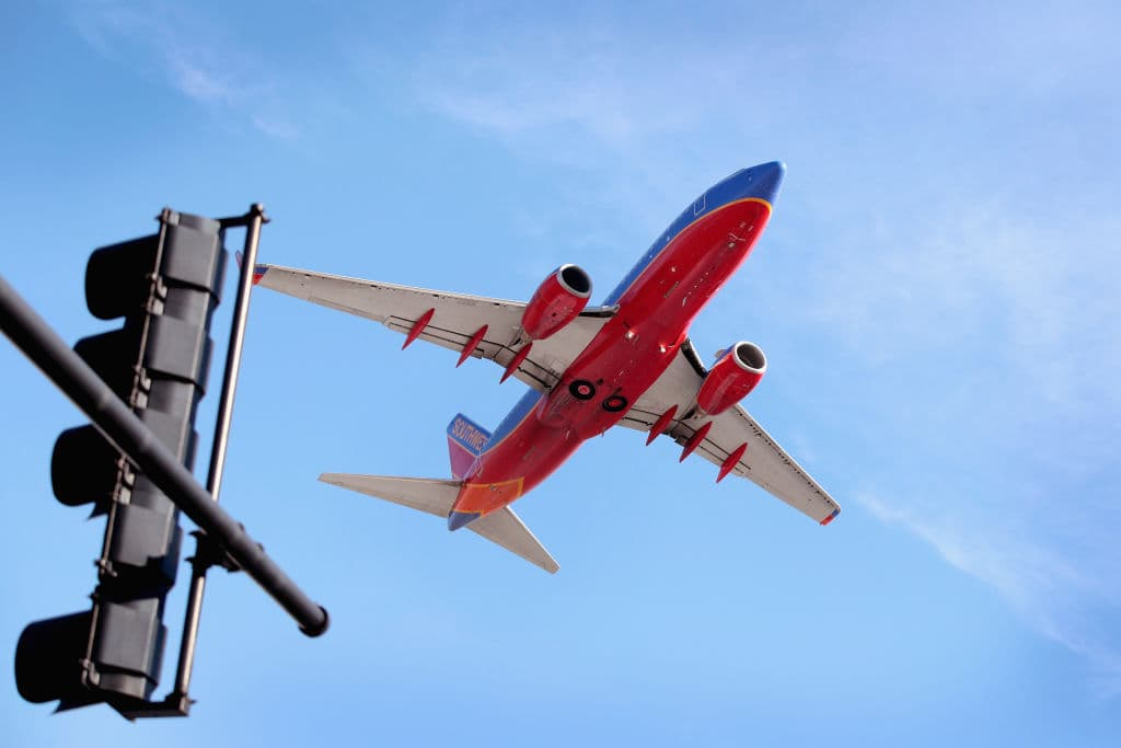 A Southwest Airlines jet leaves Midway Airport on January 25, 2018 in Chicago, Illinois. (Getty Images)