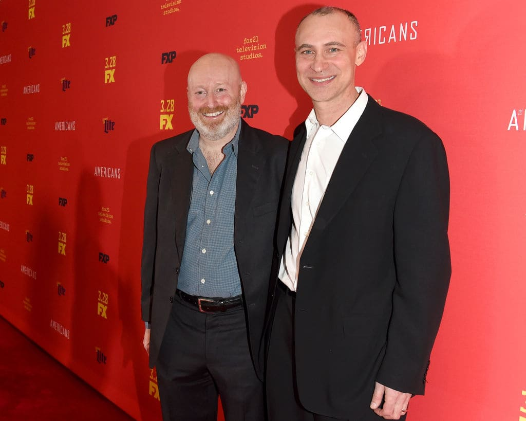 Joe Weisberg and Joel Fields attend 'The Americans' Season 6 Premiere at Alice Tully Hall, Lincoln Center on March 16, 2018 in New York City. (Photo by Nicholas Hunt/Getty Images)