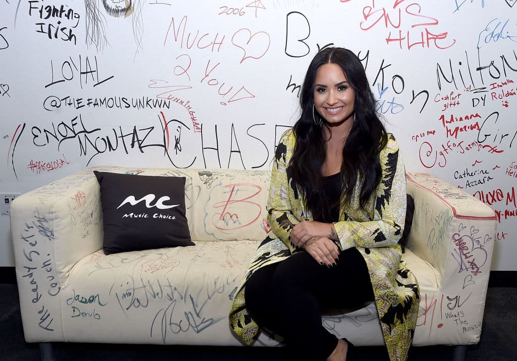 Demi Lovato at Music Choice on March 22, 2018 in New York City. (Photo by Jamie McCarthy/Getty Images)