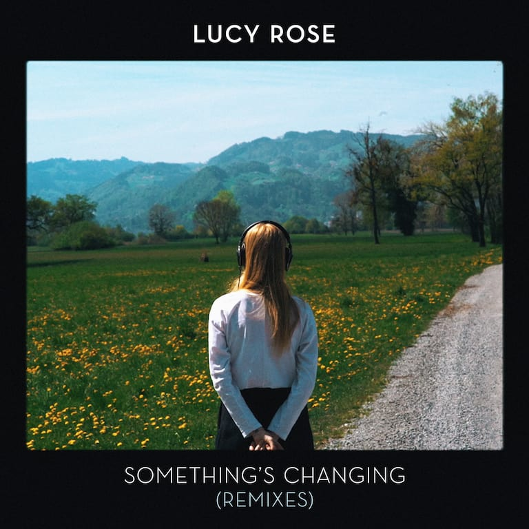 Album art for Lucy Rose's 'Something's Changing' remix album, featuring producer JM∆C. (Image Source: Lucy Rose)