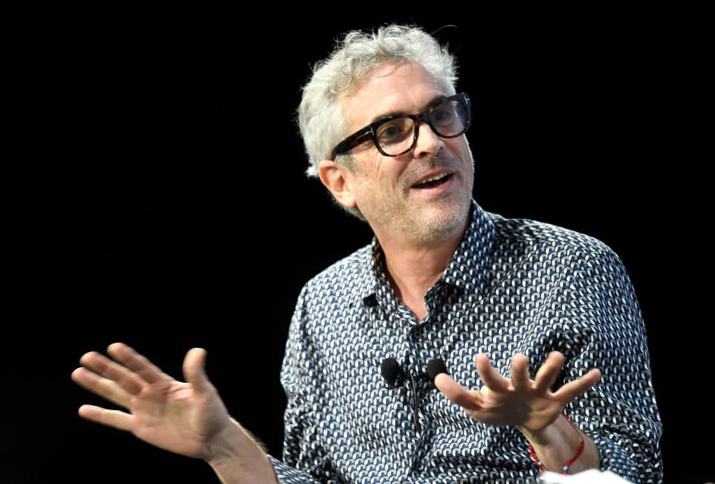 Alfonso Cuaron speaks during the Alfonso Cuaron Cinema Lesson during the 70th annual Cannes Film Festival at on May 24, 2017 in Cannes, France. (Photo by Antony Jones/Getty Images)