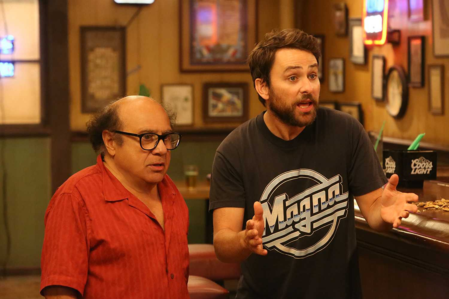Both Danny DeVito and Charlie Day from 'It's Always Sunny...' will be on the FX tour (Source: IMDb)