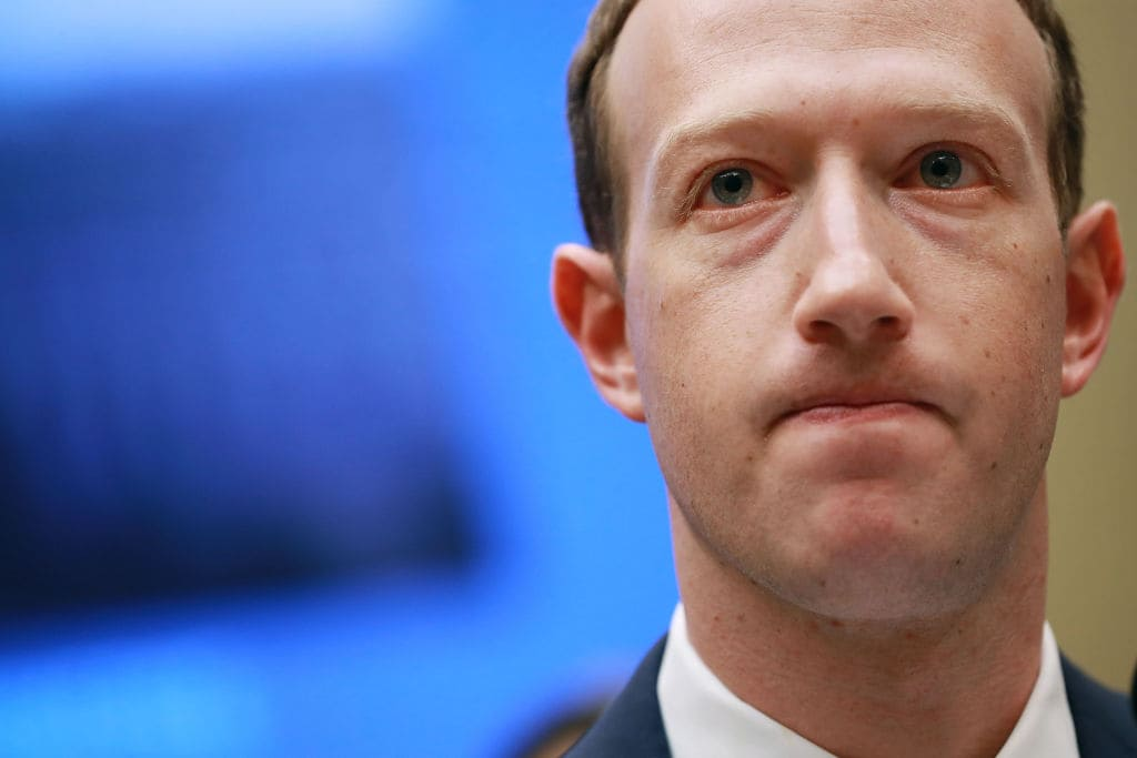 Mark Zuckerberg's personal wealth also took a major hit — the co-founder and chief executive lost $16.8 billion in extended trading (Getty Images)