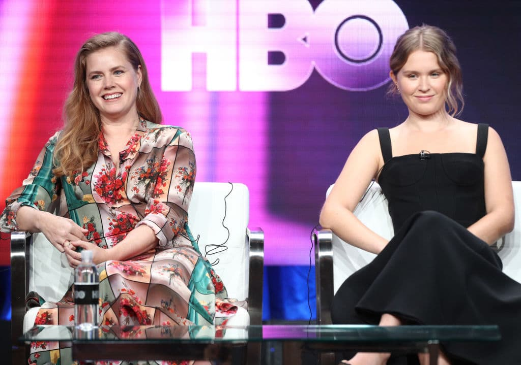 Amy Adams and Eliza Scanlen of 'Sharp Objects' speak onstage during the HBO portion of the Summer 2018 TCA Press Tour at The Beverly Hilton Hotel on July 25, 2018 in Beverly Hills, California. (Photo by Frederick M. Brown/Getty Images)