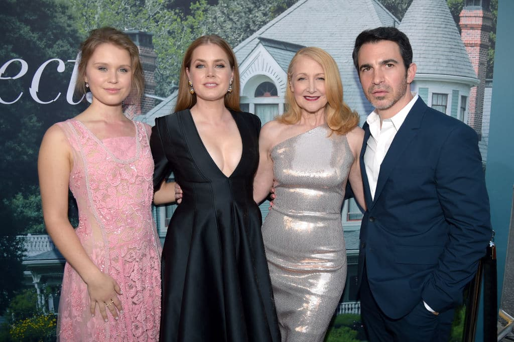 (L-R) Eliza Scanlen, Amy Adams, Patricia Clarkson, and Chris Messina attend the premiere of HBO's 'Sharp Objects' at The Cinerama Dome on June 26, 2018 in Los Angeles (Photo by Kevin Winter/Getty Images)