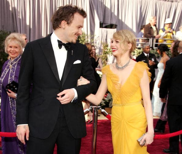 Heath Ledger and Michelle Williams arrive to the 78th Annual Academy Awards at the Kodak Theatre on March 5, 2006 in Hollywood, California. (Photo by Frazer Harrison/Getty Images)