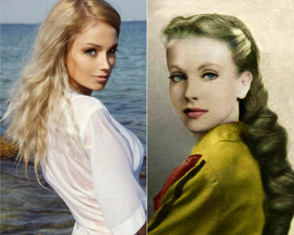 Left: Valeria Lukyanova Right: Maria Orsic