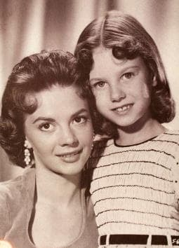 Lana Wood, right, pictured here with her late actress Natalie Wood when Lana played Natalie as a young girl in the film 'Searches.' (Photo Courtesy of Lana Wood/Delivered by Newsmakers)