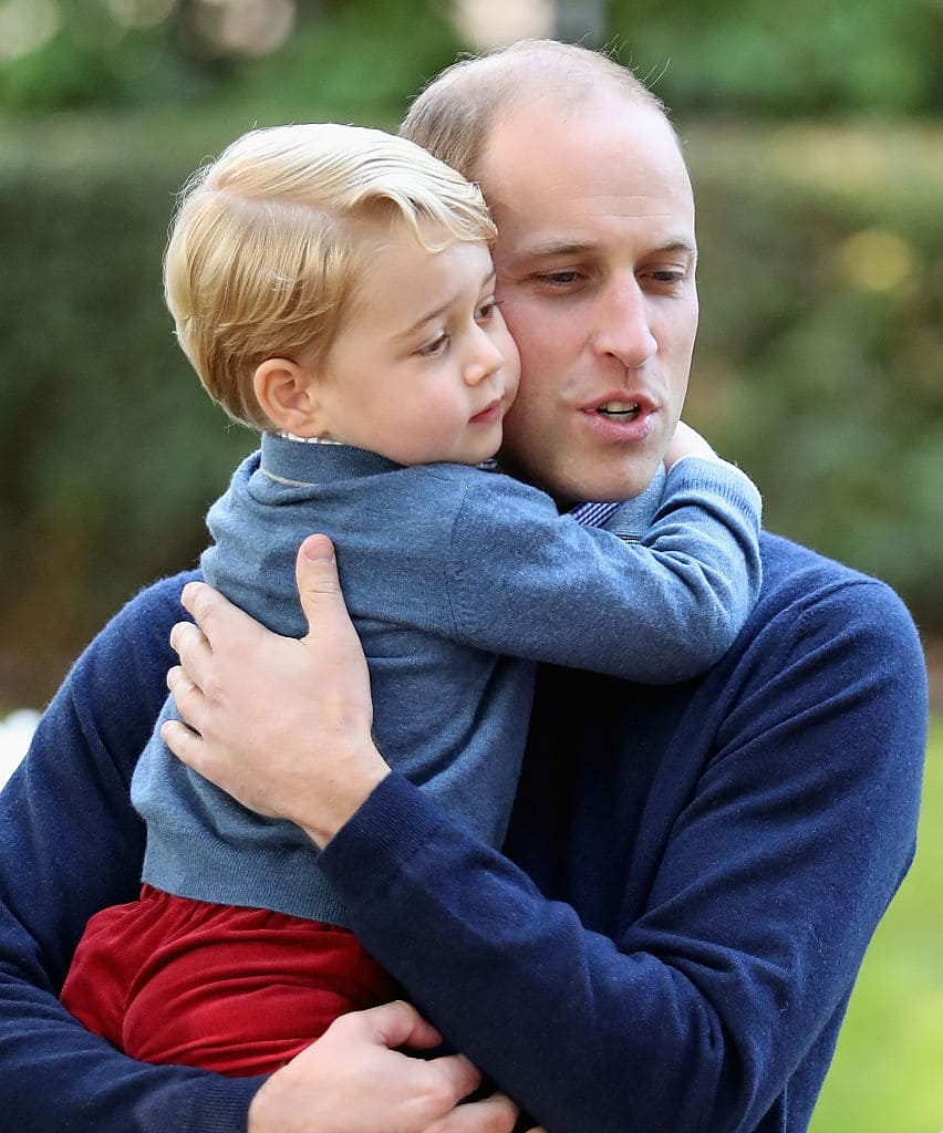 Prince George with his father, Prince William (Getty Images)