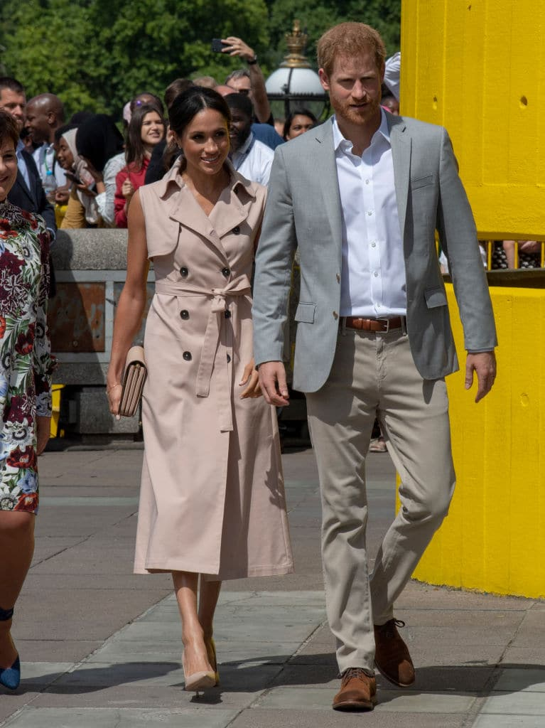 Prince Harry and Meghan Markle in London on July 17, 2018 (Photo by Arthur Edwards - WPA Pool/Getty Images)