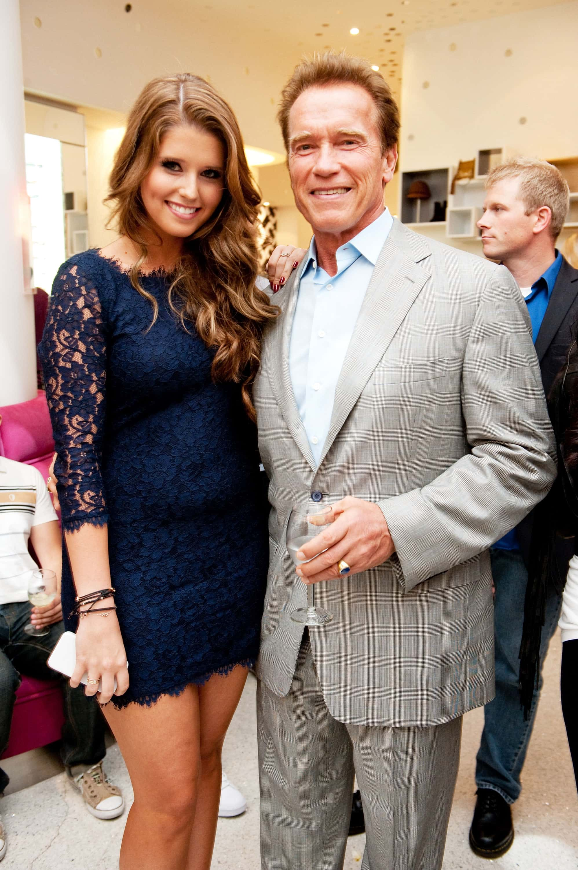 Katherine Schwarzenegger seen here with father Arnold Schwarzenegger (Getty Images)