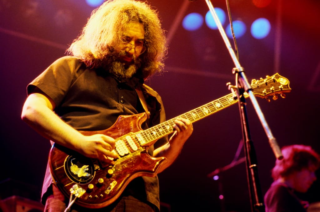 To celebrate the rock legends 76th birthday, Jerry Garcia's family members have launched a new music label, Jerry Garcia Music Arts LLC (Photo by Michael Putland/Getty Images)
