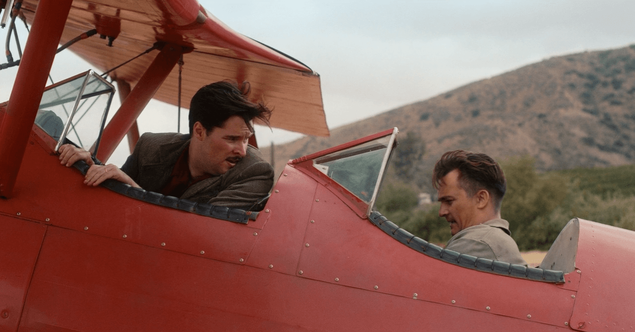 Jack and Ernest steal a plane and take it for a joy ride in episode eight of 'Strange Angel'. (Image Source: CBS All Access)
