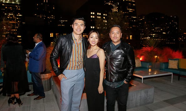 Henry Golding, Constance Wu, and Rembrandt Flores attend the Crazy Rich Asians Viewing Party Hosted By Steve Jang, Warner Bros. Pictures, and Friends on August 2, 2018 in San Francisco, California. (Photo by Kimberly White/Getty Images for Private Party )