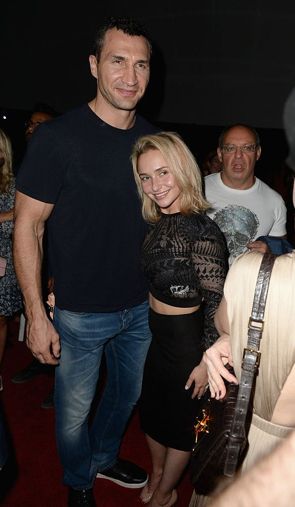 Hayden Panettiere with ex-fiancé Wladimir Klitschko (Source: Gustavo Caballero/Getty Images)