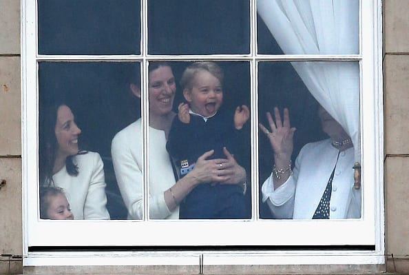 Maria Borrallo, the royal nanny, plays with Prince George (Source: Getty Images)