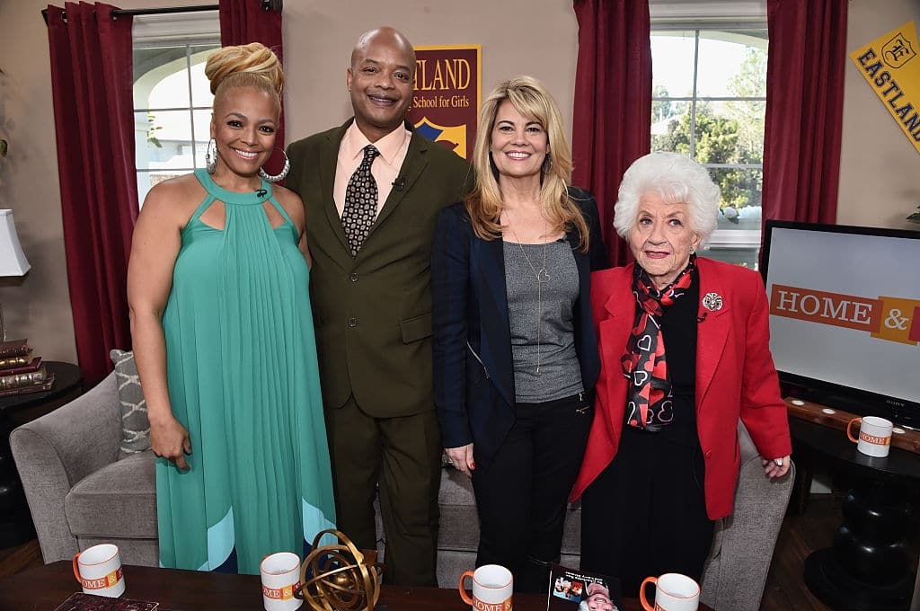 Kim Fields, actor Todd Bridges, actresses Lisa Whelchel and Charlotte Rae attend Hallmark's Home and Family 'Facts Of Life Reunion' at Universal Studios Backlot on February 12, 2016 in Universal City, California. (Photo by Alberto E. Rodriguez/Getty Images)