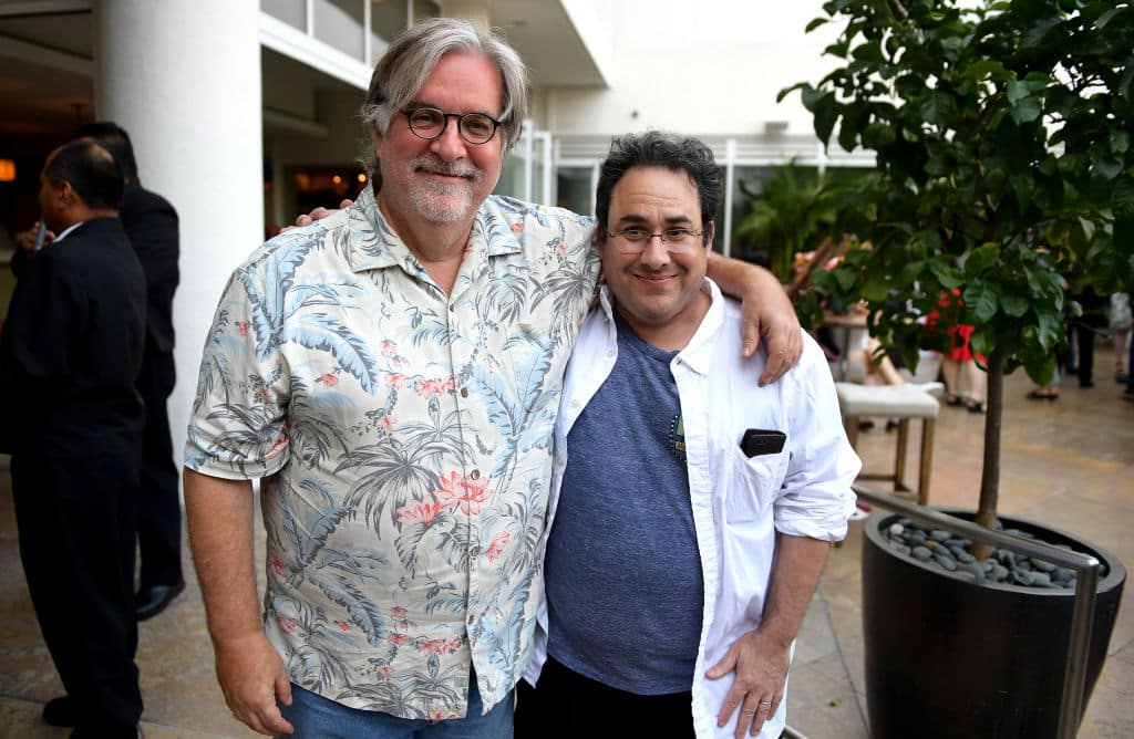 Matt Groening and Josh Weinstein attend Netflix TCA 2018 at The Beverly Hilton Hotel on July 29, 2018 in Beverly Hills, California. (Photo by Matt Winkelmeyer/Getty Images for Netflix)
