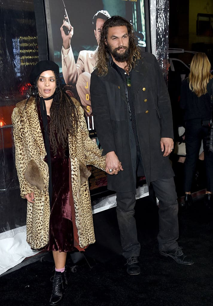 Lisa Bonet and Jason Momoa on January 9, 2017 in Hollywood (Photo by Frazer Harrison/Getty Images)